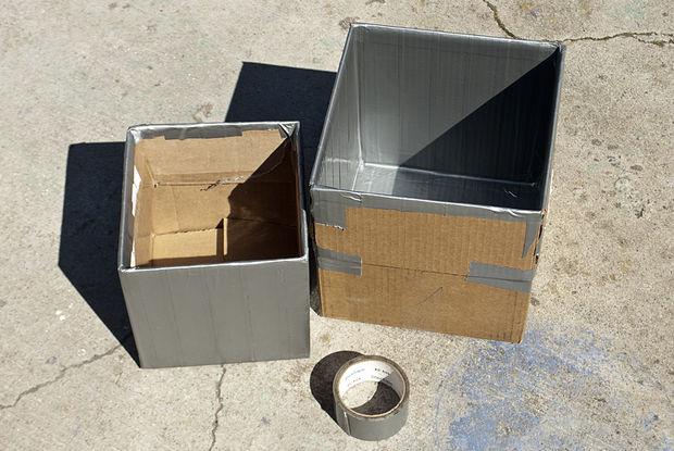 коробки обклеены скотчем