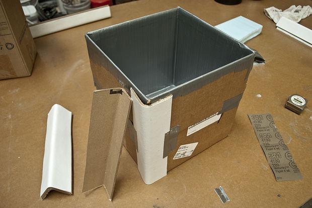 усиливаем углы с помощью картона