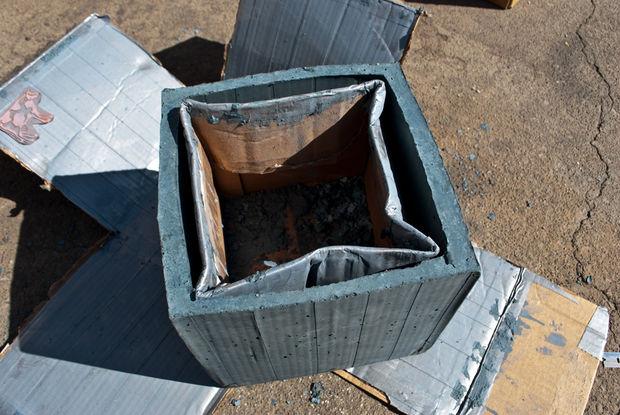 смятая внутрення коробка