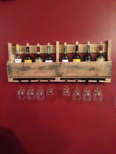 Полка для вина своими руками из паллет