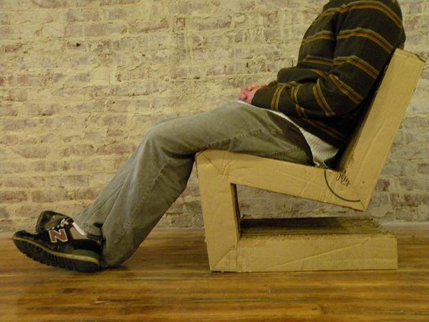 Консольный стул из картона своими руками 2.0