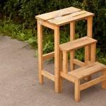 складной деревянный стул-стремянка