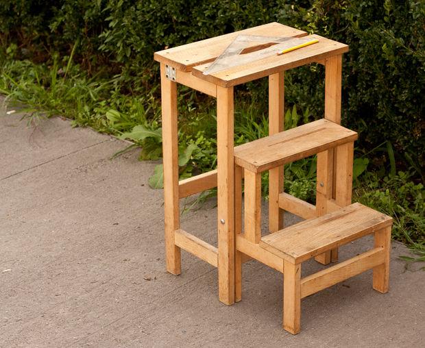 Деревянный складной стул-стремянка своими руками