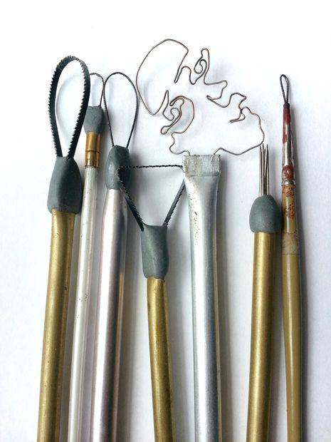 самодельные инструменты для работы с глиной