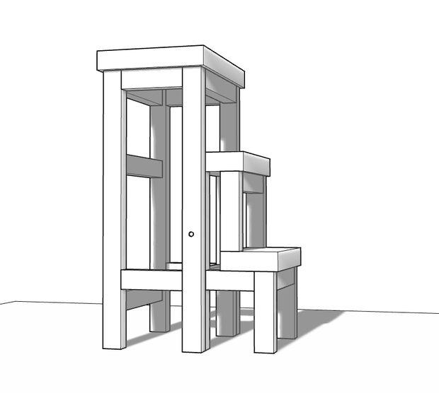 деревянный складной стул стремянка 1-ый вариант