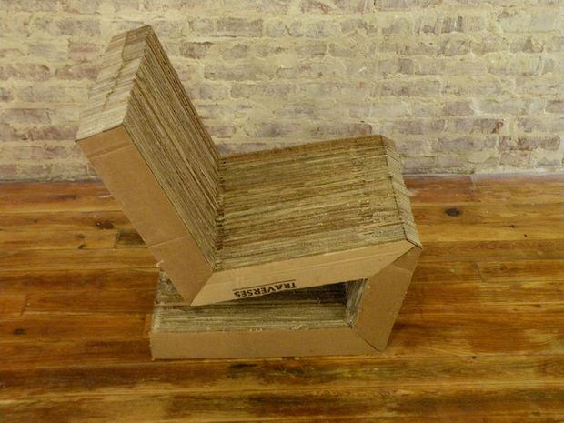 стул из картона вид сверху