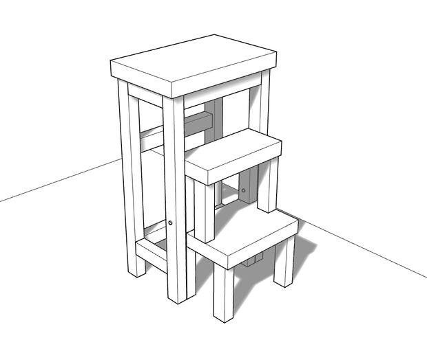 третий вариант стула стремянки