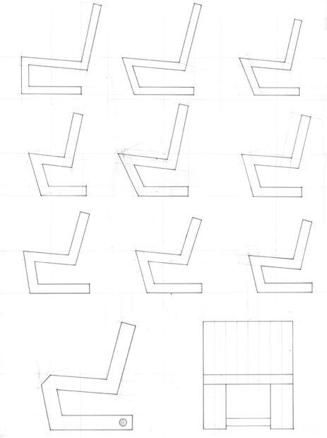 варианты внешнего вида стула из картона