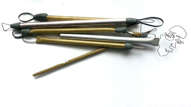 готовый набор инструментов для работы с глиной