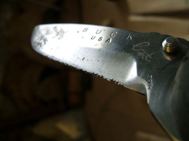 зазубрины на ноже