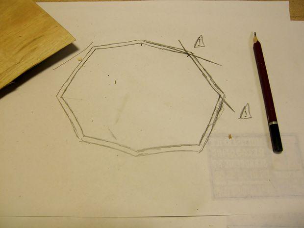 форма дна кружки на листе