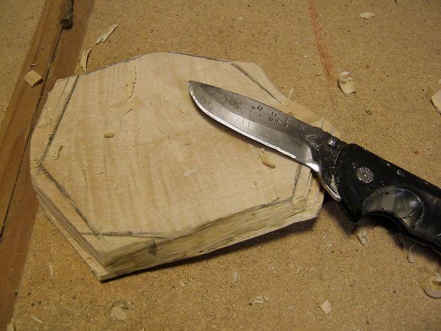 обработка дна ножом