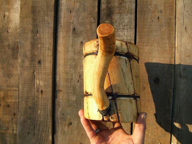 готовая деревянная кружка
