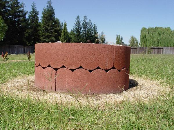 место для костра на даче вид сбоку
