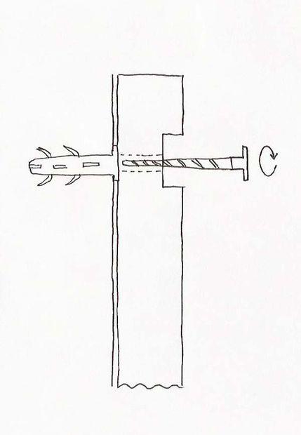 схема крепления бруса к стене