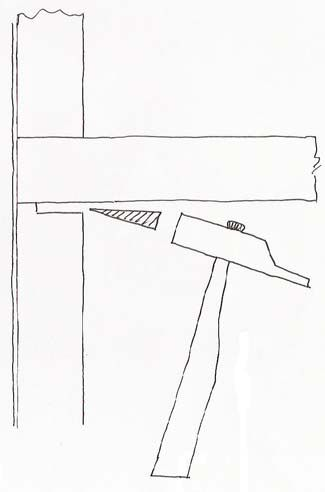 схема забивания крепёжных элементов