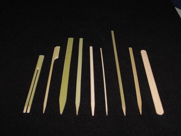 различные деревянные палочки