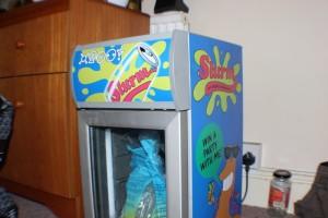 Обклеяный холодильник