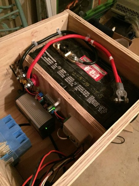 Расположение оборудования в готовой коробке