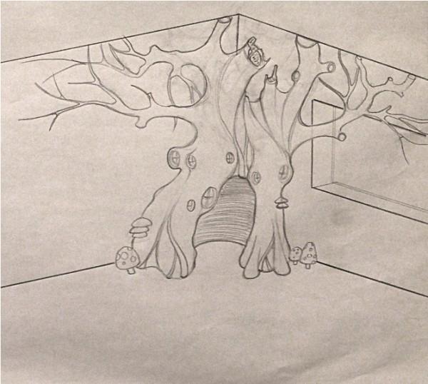 Эскиз волшебного дерева