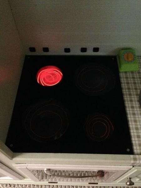 Горелка из электролюминесцентного провода
