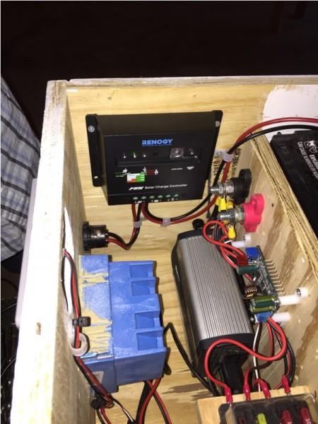 Автономная электростанция внутри с закреплённым оборудованием