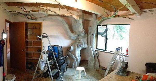 Готовое бетонное сказочное дерево