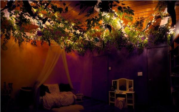 Свет на ветках волшебного дерева