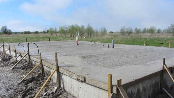 Фундамент залитый бетоном