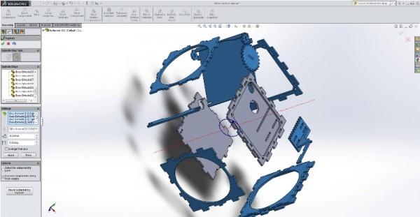 3D модель корпуса SLR фотоаппарата