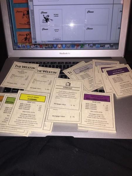 Вырезанные карточки собстенности