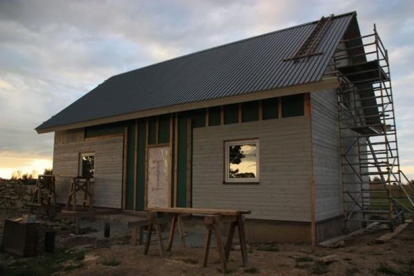 Облицованый дом, вид со стороны входа