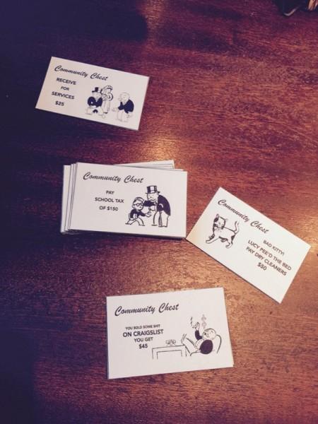 Вырезанные карточки Шанс и Казна