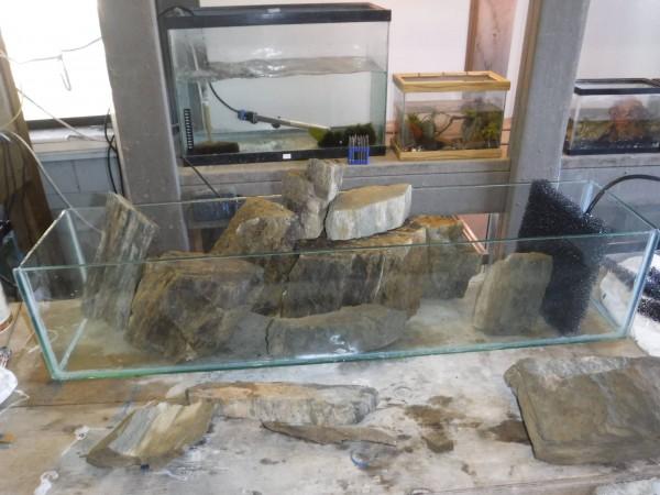 Горные породы в аквариуме