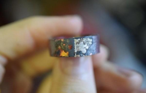 Спаяный шов на кольце