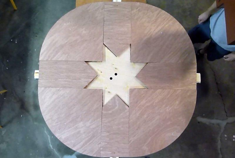 Круглый стол-трансформер своими руками 153