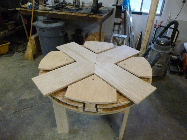 Как сделать круглый стол из фанеры своими руками 76