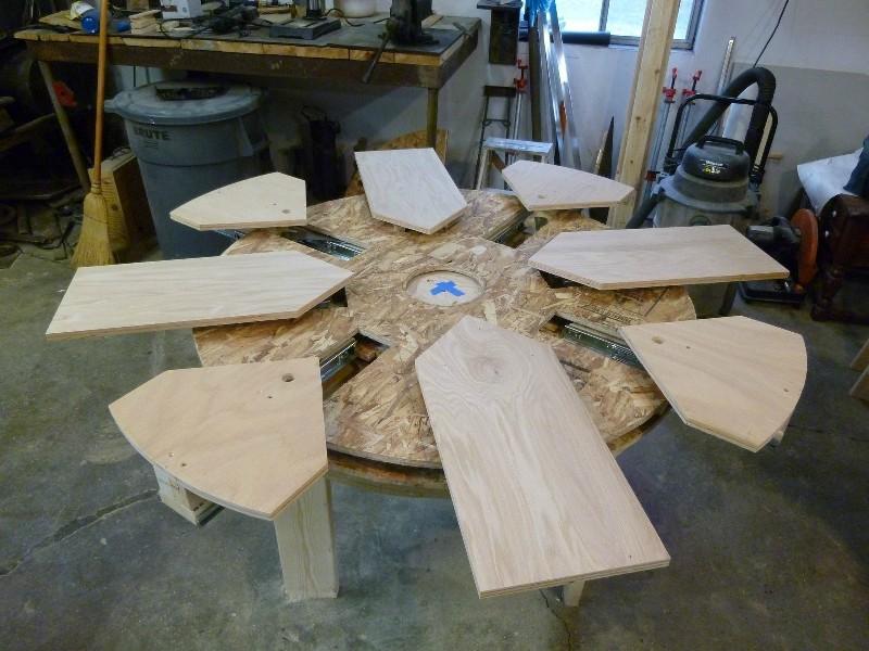 Как сделать круглый стол из фанеры своими руками 90