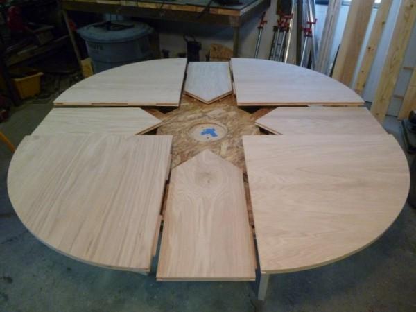 Максимально розложеный стол со всеми панелями