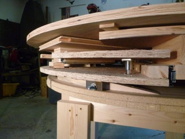 Раздвижной стол, вид сбоку