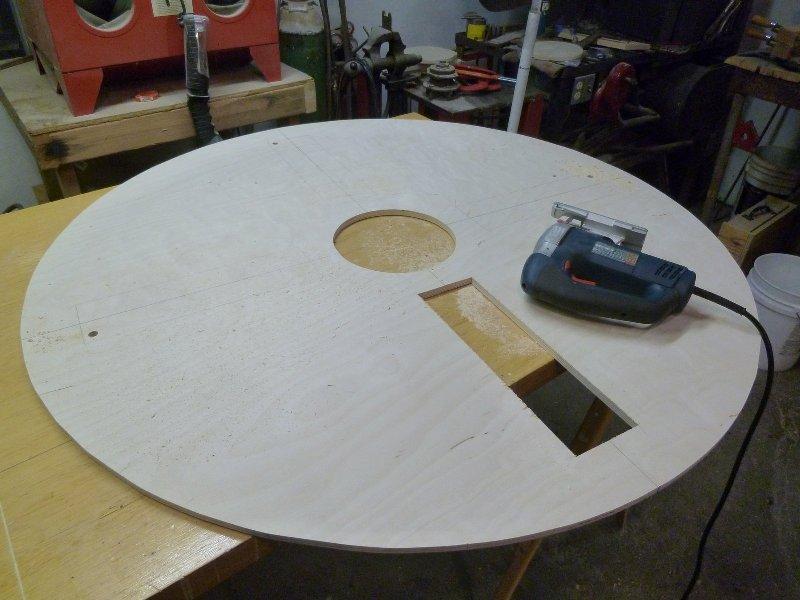 Как сделать круглый стол из фанеры своими руками 97