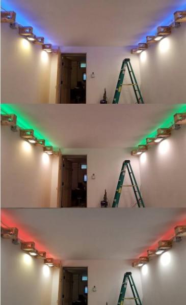 Зелёный свет под потолком