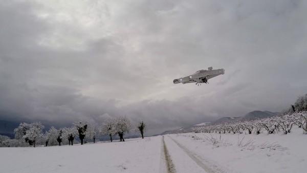 Беспилотник в воздухе