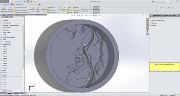 Вырезанный фрагмент из топографической карты