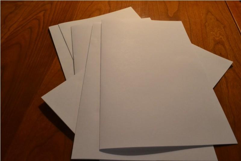 Как сделать блокнот своими руками из белой бумаги