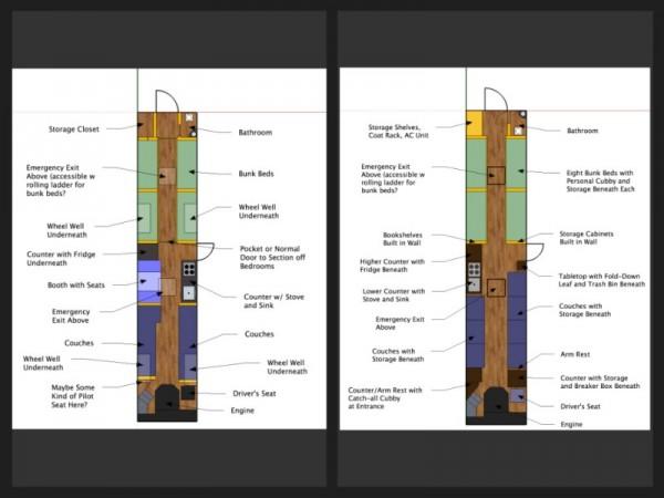 План салона автобуса