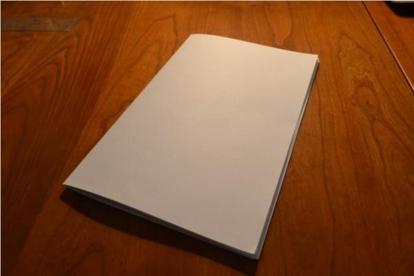 Тетрадь из белых листов