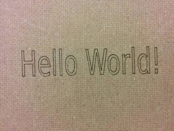 Надпись Hello World!
