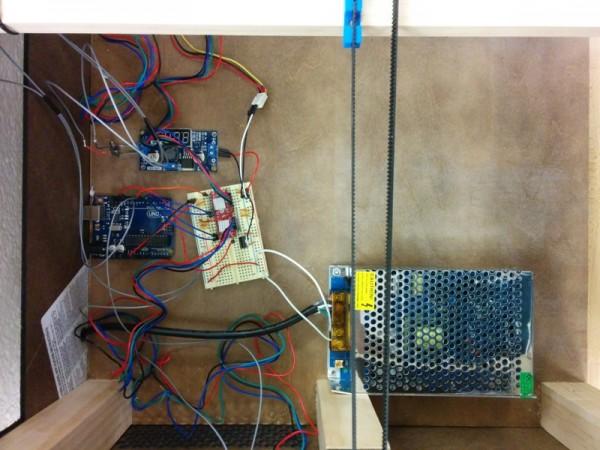 Arduino, блок питания, регулятор напряжения, драйвера лазера и шагового двигателя