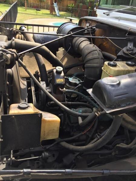 Отремонтированный двигатель крупным планом